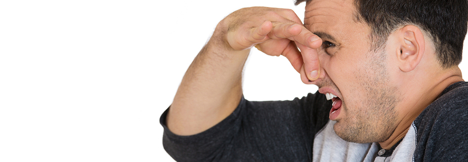 Man holding noise