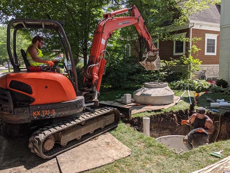 Digging Yard For Lift Station