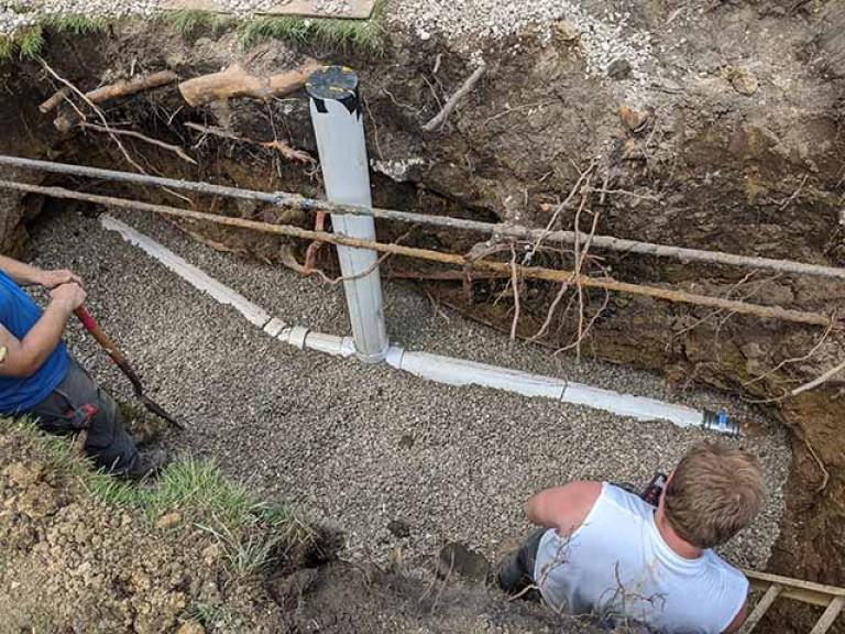 Collapsed Sewer Repair
